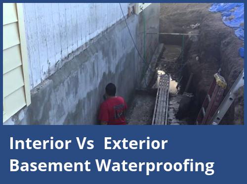 Interior Vs Exterior Basement Waterproofing