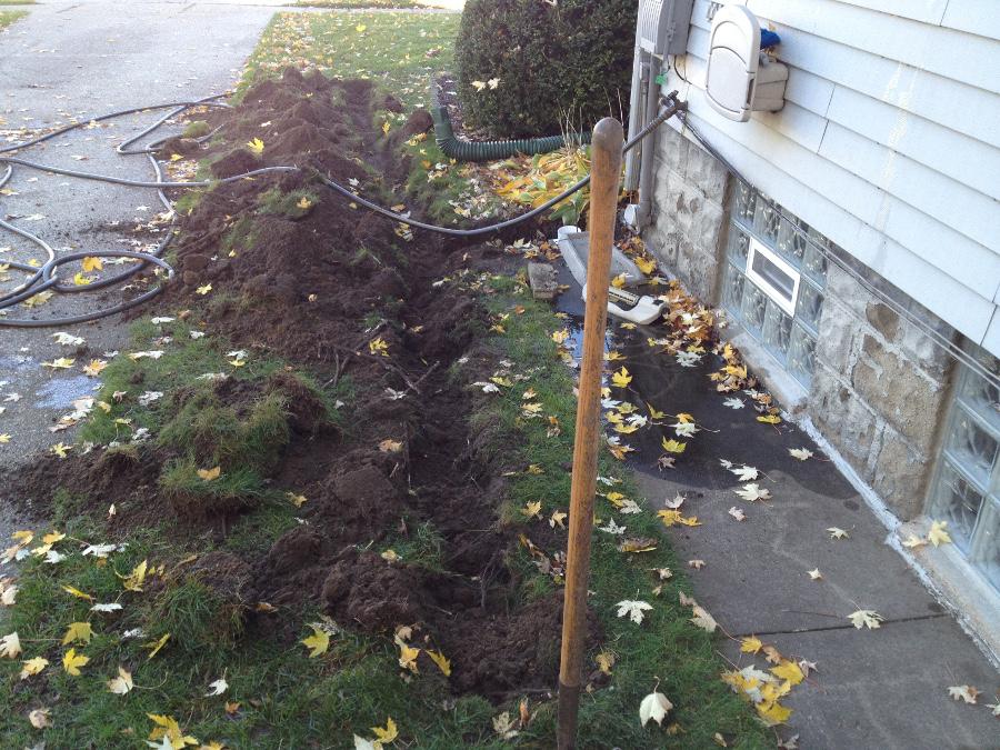 started digging