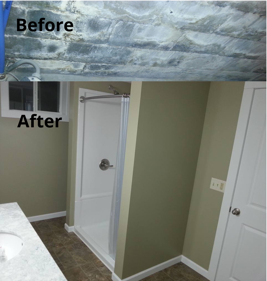 Pat's Before and After basement waterproofing