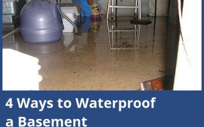4 Ways to Waterproof a Basement