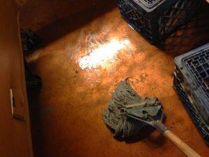 water on basement floor