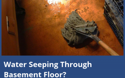 What to Do About Water Seeping Through Basement Floor